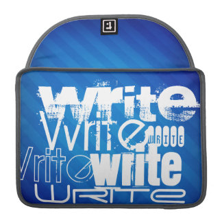 Write; Royal Blue Stripes Sleeve For MacBook Pro