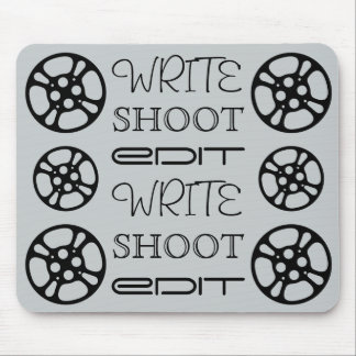 Write Shoot Edit Film Reel Mousepad