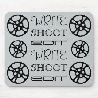 Write Shoot Edit Film Reel Mousepad