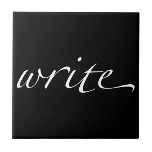 Write Small Square Tile