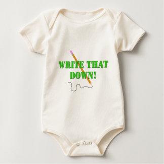WRITE THAT DOWN BABY BODYSUIT