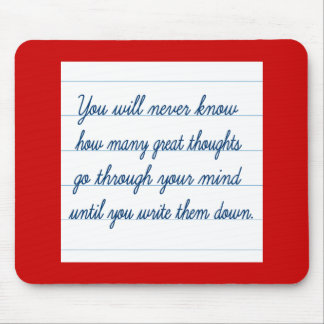 Write them down mouse pad