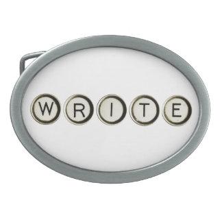 Write Typewriter Keys Belt Buckle