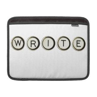 Write Typewriter Keys Macbook Sleeve
