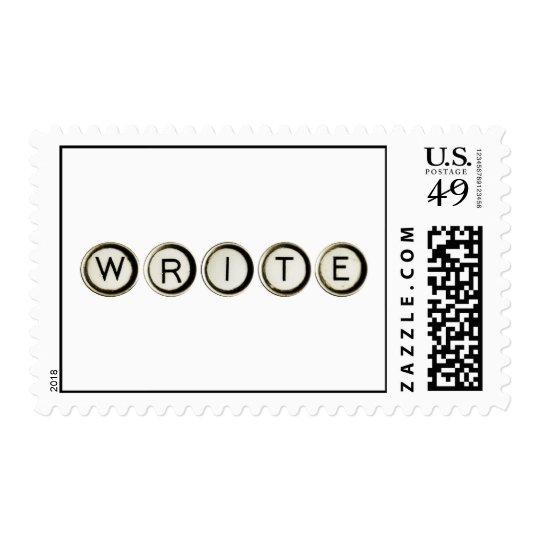 Write Typewriter Keys Postage Stamps
