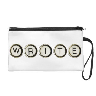 Write Typewriter Keys Wristlet