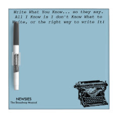 Write What You Know Dry-erase Board at Zazzle