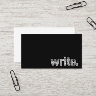 Freelance writer business cards zazzle write writer freelance writer author business card colourmoves