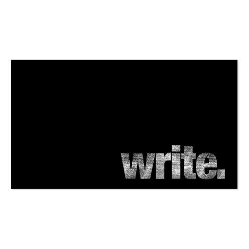 Write: Writer, Freelance Writer, Author Business Card Templates