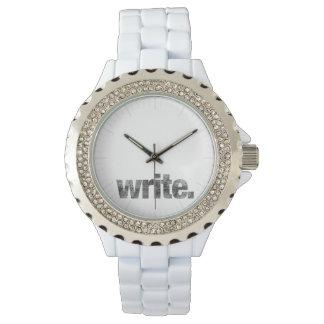 Write: Writer, Freelance Writer, Author Wrist Watch