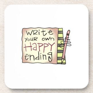 WRITE YOUR HAPPY ENDING DRINK COASTERS