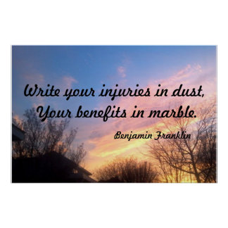 """""""WRITE YOUR INJURIES MOTIVATIONAL POSTER"""" POSTER"""