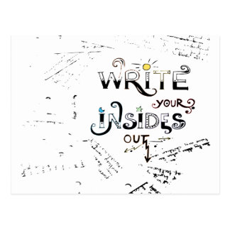 Write your Insides OUT! Postcard