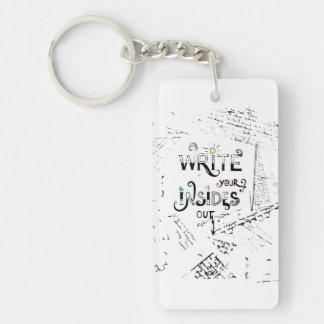 Write your Insides OUT! Single-Sided Rectangular Acrylic Keychain