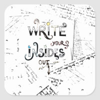 Write your Insides OUT! Square Sticker