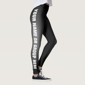 Write Your Name Black Fade Custom Leggings Vers 2