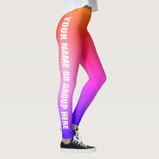 Write Your Name, Colour Fade Customisable Leggings