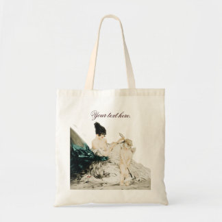 Write Your Own Text on Icart Etching Bag Budget Tote Bag