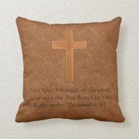 Write YOUR SCRIPTURE VERSE Cross Christian Pillows