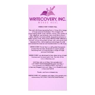 WRITECOVERY Information Card