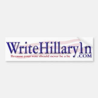 WriteHillaryIn.com Pegatina Para Auto