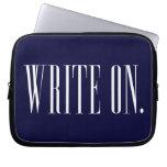 WriteOn1Blk.png Laptop Sleeve