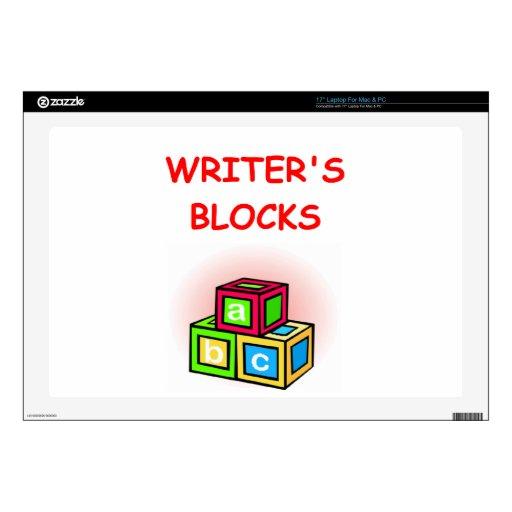 "writer 17"" laptop decals"