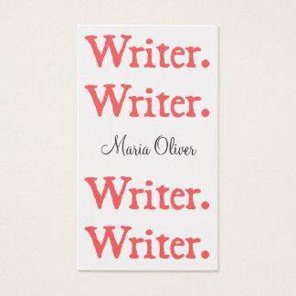 Writer 4-Stack Salmon White Business Card