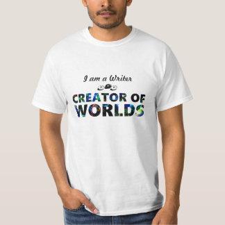 Writer aka creator of worlds (mens) tees