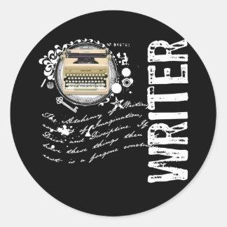 Writer Alchemy Classic Round Sticker