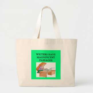 WRITER and author design Large Tote Bag