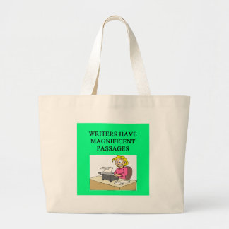 WRITER and author joke Large Tote Bag