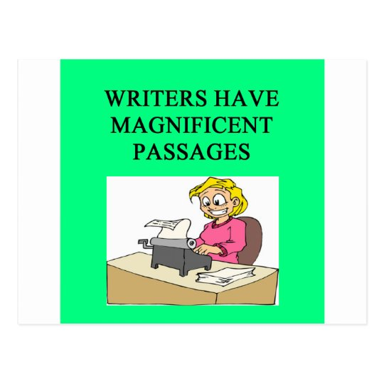WRITER and author joke Postcard