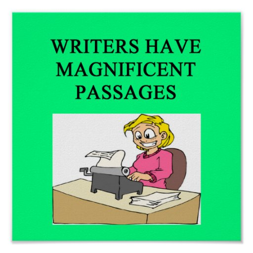 WRITER and author joke Poster