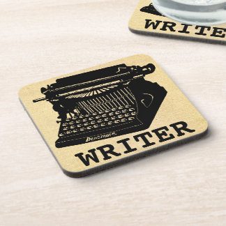 Writer Antique Typewriter Beverage Coaster