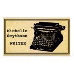 Writer Antique Typewriter Business Card