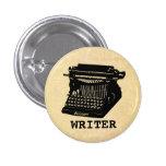 Writer Antique Typewriter Button