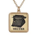 Writer Antique Typewriter Custom Necklace