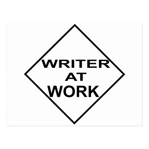 Writer at Work - Gift for Writers Post Card