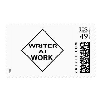 Writer at Work - Gift for Writers Postage Stamp
