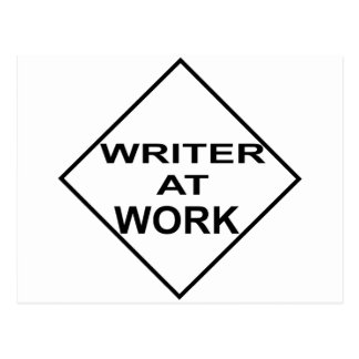 Writer at Work - Gift for Writers Postcard