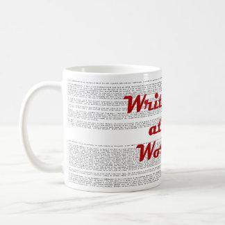 Writer at Work mug - background text Frankenstein