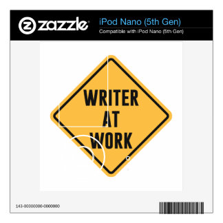 Writer at Work Working Caution Sign Decal For iPod Nano