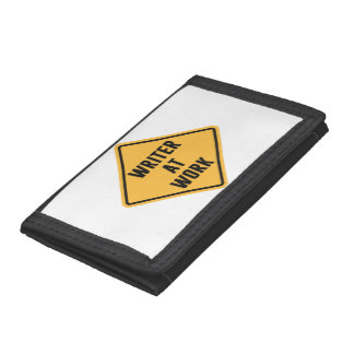 Writer at Work Working Caution Sign Wallet