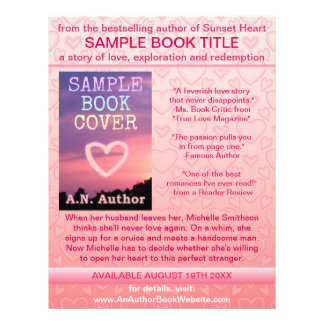 Writer Author Book Promotion Pink White Hearts Personalized Flyer