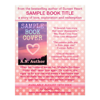 Writer Author Book Promotion Pink White Polka Dot Flyer