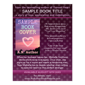 Writer Author Book Promotion Purple Polka Dot Personalized Flyer