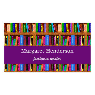 Writer / Author Book Promotion Shelf Pattern Business Card
