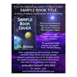 Writer Author Book Promotion Space Science-Fiction Flyer
