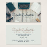 "Writer author cool vintage typewriter professional business card<br><div class=""desc"">A writer author cool vintage typewriter professional business card design. Customize this writer author cool vintage typewriter professional business card and give it your individual style. A professional modern customizable Business Card. Perfect for many professions looking for that visual creative edge over their competitors to stand out from the crowd!...</div>"